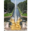 The Samson Fountain and Sea Channel, The Grand Palace, Peterhof, St. Petersburg, Russia.